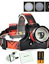 Boruit® B13 Lanternas de Cabeca 1500 lm 3 Modo LED com Pilhas e Cabos USB Profissional Ajustavel Alta qualidade Campismo / Escursao /