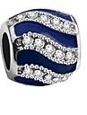 Joias DIY 1 pcs Contas Imitacoes de Diamante Liga Vermelho Azul Real Forma do tubo Bead 0.2 cm faca voce mesmo Colar Pulseiras