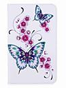 titular do cartao de padrao de borboleta com suporte magnetico saco de cartao de couro PU com padrao para Samsung Galaxy Tab a 8.0 (2017)