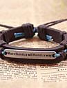 Men\'s Vintage Bracelet Leather Bracelet - Leather Retro / Vintage, Inspirational Bracelet Coffee For Gift Daily Casual