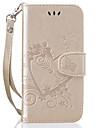 Capinha Para Apple iPhone 8 iPhone 8 Plus Porta-Cartao Flip Estampada Com Relevo Coracao Glitter Brilhante Rigida para