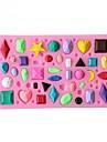 mini gem timantti muotoinen fondantti kakku suklaa karkkia silikoni muotti leivinjauhetta