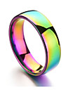 Men\'s Women\'s Band Rings , Casual Colorful Stainless Circle Rainbow Jewelry Daily Formal