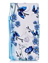 Case For Sony Sony Xperia XA Xperia XZ1 Compact Xperia XZ1 Card Holder Wallet with Stand Flip Magnetic Pattern Full Body Cases Butterfly