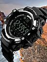 SKMEI Homme Montre de Sport Montre Digitale Quartz Noir 50 m Etanche Bluetooth Calendrier Digitale Numerique Luxe Simple Mode - Noir Argent Bleu / Pedometres / Chronometre