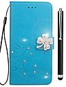 Кейс для Назначение OPPO R11s F5 Бумажник для карт Кошелек Стразы со стендом Флип Рельефный Чехол Цветы Твердый Кожа PU для OPPO R11s