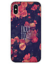 Case For Apple iPhone X iPhone 8 Pattern Back Cover Word / Phrase Flower Soft TPU for iPhone X iPhone 8 Plus iPhone 8 iPhone 7 Plus
