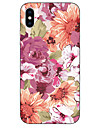 Etui Til Apple iPhone X / iPhone 8 Mønster Bagcover Blomst Blødt TPU for iPhone X / iPhone 8 Plus / iPhone 8
