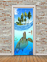 Hayvanlar Denizle İlgili Duvar Etiketler Uçak Duvar Çıkartmaları 3D Duvar Çıkartması Dekoratif Duvar Çıkartmaları Fotoğraf Çıkartmalar