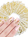 20pcs Nail Wraps Nail Stamping Template Stickers Nail Art Design Sets DIY Flower Nail Decals