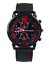Men\'s Fashion Watch Japanese Casual Watch Silicone Band Charm Black