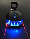 Laser LED Luzes de Bicicleta Luz Traseira Para Bicicleta luzes de seguranca Luzes da cauda Ciclismo Impermeavel Portatil Multiplos Modos 200 lm 2 Baterias AAA Vermelho Azul Campismo / Escursao / ABS