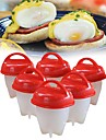 Kitchen Tools Silicone Eco-friendly / Creative Kitchen Gadget / Birthday Egg Tools Egg / Cheese / For Candy 6pcs