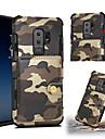 Custodia Per Samsung Galaxy S9 Plus / S9 Porta-carte di credito / Resistente agli urti Per retro Mimetico Resistente pelle sintetica per S9 / S9 Plus