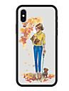 케이스 제품 Apple iPhone X / iPhone 8 Plus 패턴 뒷면 커버 개 / 카툰 하드 아크릴 용 iPhone X / iPhone 8 Plus / iPhone 8