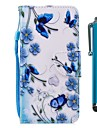 Кейс для Назначение Huawei P9 lite mini P smart Бумажник для карт Кошелек со стендом Флип Магнитный Чехол Бабочка Твердый Кожа PU для P10