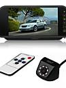 ziqiao 7 calowy kolor tft lcd samochód lusterka wstecznego monitora i 8 led ccd hd wodoodporna kamera samochodowa z tyłu