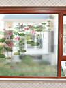 Ablakfólia és matricák Dekoráció Kortárs Virág PVC Ablak matrica / Matt