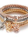 Homme / Femme Charmes pour Bracelets / Bracelet - Couronne Retro, Boheme, Mode Bracelet Arc-en-ciel Pour Soiree / Fete scolaire / 3pcs
