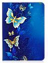 Coque Pour Samsung Galaxy Tab S2 9.7 Porte Carte Portefeuille Avec Support Motif Mise en veille automatique Coque Integrale Papillon Dur