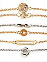 Per donna Bracciali a catena e maglie Bracciale con pendenti - Essenziale Bracciali Oro Per Quotidiano Strada / 6pcs