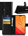Case For OnePlus OnePlus 6 / OnePlus 5T Card Holder / Wallet / Flip Full Body Cases Solid Colored Hard PU Leather for OnePlus 6 / One