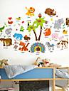 Koriste-seinätarrat - Animal Wall Tarrat Eläimet Olohuone / Makuuhuone / Kylpyhuone