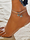 Layered Anklet - Elephant, Sun Vintage, Bohemian, Tropical, Fashion, Boho White For Gift Bikini Women\'s