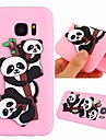 Case For Samsung Galaxy S7 Shockproof / Pattern Back Cover Panda Soft TPU for S7