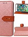 fodral Till Apple iPhone 6 Plånbok / Korthållare / med stativ Fodral Enfärgad Hårt PU läder för iPhone 6