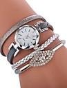 Femme Bracelet de Montre Chinois Montre Decontractee / Adorable / Imitation de diamant Polyurethane Bande Boheme / Mode Noir / Blanc /