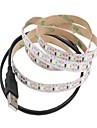 1m Flexibele LED-verlichtingsstrips 60 LEDs 2835 SMD Warm wit / Wit Knipbaar / USB / Decoratief Voeding Via USB 1pc / Zelfklevend