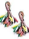20 db és 5 színes tesztvezeték& alligátor klipek