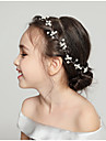 Women\'s Simple Wedding Fabric Alloy Crystal Headbands-Floral