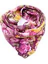 Per donna Con fiocco, Vacanze Sciarpa quadrata - Chiffon Fantasia floreale / Per tutte le stagioni