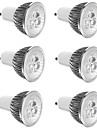 6pcs 3 W 300 lm E14 / GU10 / GU5.3 Focos LED 3 Cuentas LED LED de Alta Potencia Decorativa Blanco Calido / Blanco Fresco 85-265 V