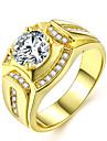 Pro páry Vrstvené Stylové Prsten - Umělé diamanty Drahocenný Luxus, Klasické, Módní 7 / 8 / 9 / 10 / 11 Zlatá Pro Denní Rande