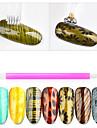 1 Stuk Nail Art Tool puntjes gereedschap Modieus Design Nagel kunst Manicure pedicure Professioneel Alledaagse kleding