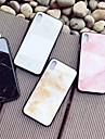 Etui Til Apple iPhone X / iPhone 8 Mønster Bagcover Marmor Hårdt Tempereret glas for iPhone X / iPhone 8 Plus / iPhone 8