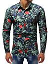 Camicia - Taglie forti Per uomo Serata Lavoro / Moda citta Con stampe, Monocolore / Animali / Manica lunga / Taglia piccola