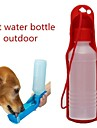 0.03-0.05 L Dogs / Cats Bowls & Water Bottles Pet Bowls & Feeding Portable / Outdoor Red / Blue / Pink