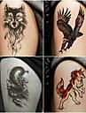 10 pcs dočasné tetování Totemová řada / Zvířecí řada Hladká nálepka / Bezpečnost Tělesné Arts paže / Deskové dočasné tetování