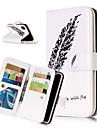 Кейс для Назначение Apple iPhone XR / iPhone XS Max Кошелек / Бумажник для карт / со стендом Чехол  Перья Твердый Кожа PU для iPhone XS / iPhone XR / iPhone XS Max
