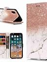 Custodia Per Apple iPhone XR / iPhone XS Max A portafoglio / Porta-carte di credito / Con supporto Integrale Effetto marmo Resistente pelle sintetica per iPhone XS / iPhone XR / iPhone XS Max