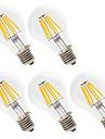 5pcs 6W 560lm E26 / E27 Ampoules a Filament LED A60(A19) 6 Perles LED LED Haute Puissance Decorative Blanc Chaud / Blanc Froid 220-240V