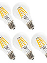 5pcs 6W 560lm E26 / E27 LED-glødetrådspærer A60(A19) 6 LED Perler Højeffekts-LED Dekorativ Varm hvid / Kold hvid 220-240V