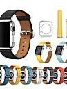 Bracelet de Montre  pour Apple Watch Series 4/3/2/1 Apple Bracelet Sport Vrai Cuir Sangle de Poignet