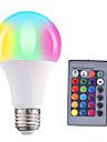 HRY 1pc 5W 500lm E26 / E27 Lampadine globo LED A60(A19) 15 Perline LED SMD 5050 Oscurabile Decorativo Controllo a distanza RGBW 85-265V