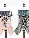 Chiens Combinaison-pantalon Vetements pour Chien Couleur Pleine / Tartan / Bande dessinee Jaune / Vert Jeans / Coton Costume Pour les animaux domestiques Unisexe Style Mignon / Garder au chaud