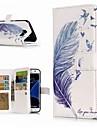 Etui Til Samsung Galaxy S9 Plus / S8 Lommebok / Kortholder / med stativ Heldekkende etui Fjaer Hard PU Leather til S9 / S9 Plus / S8 Plus